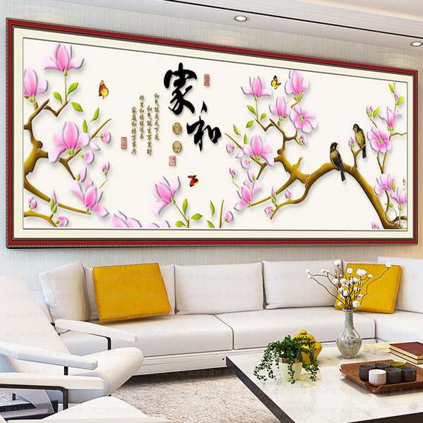 Diamonds Picture New Pattern Home And Riches And Honour Magnolia Stick Drill Cross Embroidery A Living Room Series Decoration Painting Gener