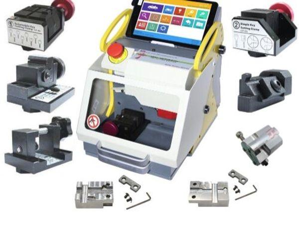 DHL free shiping Full Clamp SEC-E9 Automatic Car Key Making Machine Laser Key Cutting Machine For Sale