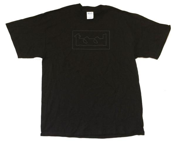 TOOL Grey Line Logo Eyes Back Print Black T Shirt New Official NOS Maynard Band