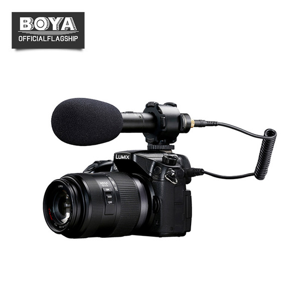 BOYA BY-PVM50 3.5mm Stereo X/Y Condenser Video Microphone for Canon DSLR Camera Camcorder Audio Recorder Mic Free Windshield