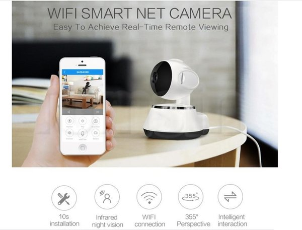 Hottest Pan Tilt Wireless IP Camera WIFI 720P Infrared CCTV Home Security Cam Micro SD Slot Support Microphone & P2P with DHL Shipping