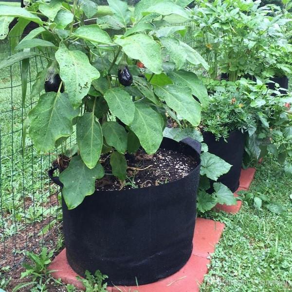 Gallonen-nichtgewebte Gewebe wachsen Beutel-Griffe runde Gewebetöpfe Pflanzenbeutel-Wurzel wachsen Beutel-Belüftungstopf-Behälter 10 Größe c183