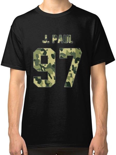 Jake Paul Camo Army Men's Black Tees Shirt Clothing T Shirt Discount 100 % Cotton T Shirt For Men's Sleeve Harajuku Tops
