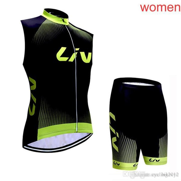 LIV team Cycling Sleeveless jersey Vest shorts sets women Breathable Bike Clothing Mountain bike new Ropa Ciclismo C1922