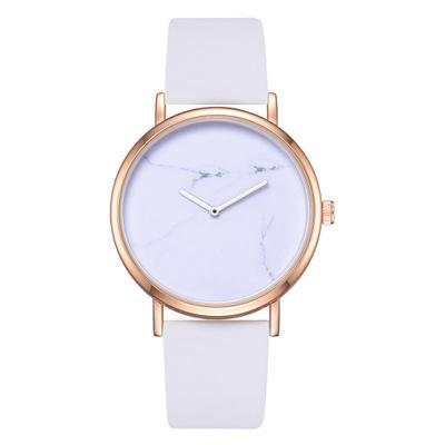 Classic Belt Watch Trendy Personality Marble Mirror Quartz Watch Fashion Hot Business PU Ladies Wild Watch