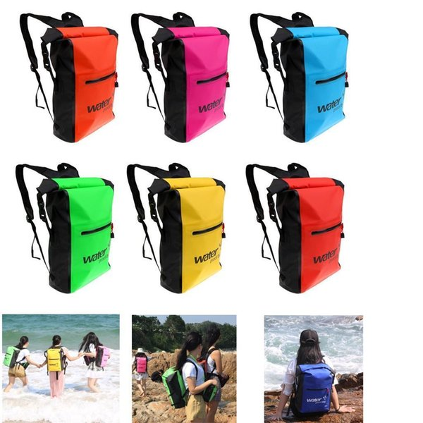 25L Waterproof Dry Bag Backpack Floating Kayak Canoe Boat Surf Camping Swim Hot,Over the Shoulder for Kayaking, Hiking BBA72