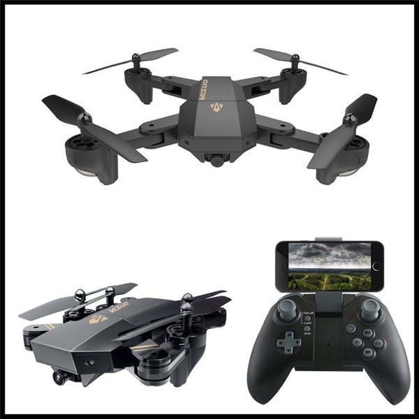 XS809W Foldable Drone with Camera HD 2MP Wide Angle WIFI FPV Altitude Hold RC Quadcopter Helicopter VS H47 Dron