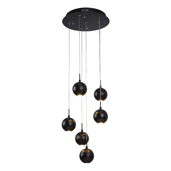 Yuvarlak LED Kolye Işık COB lambaları 6 Kafaları Süspansiyon yaratıcı Sarkıt oturma odası çalışma odası Için basit Ev aydınlatma G874