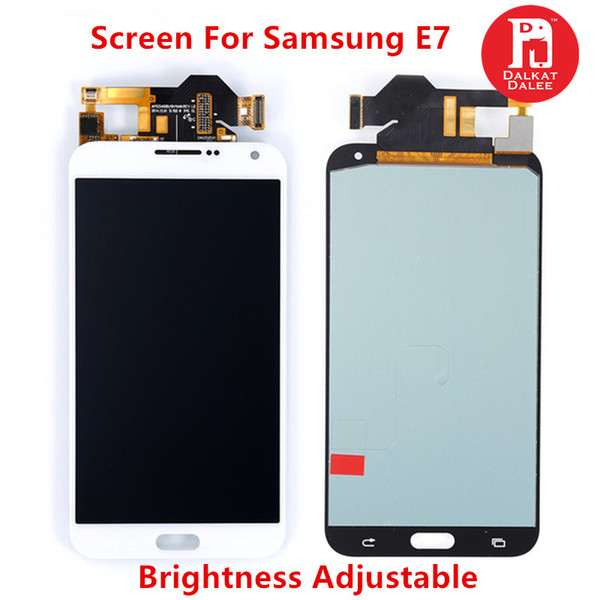 LCD For Samsung Galaxy E7 E700 E7000 E7009 E700F E700H E700M TFT Display Touch Screen Digitizer Replacement Brightness Adjust Available