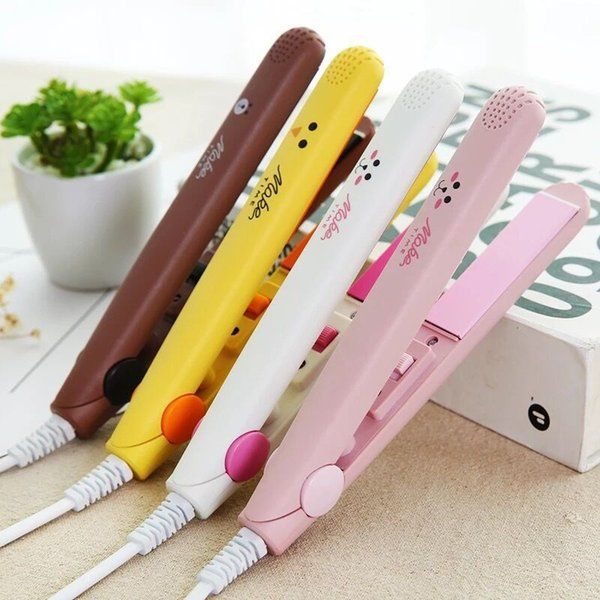 Hot Tamax At Fashion Mini hair straightener Professional hair tools smoothing corrugated Travel straightening irons flat irons Free dhl