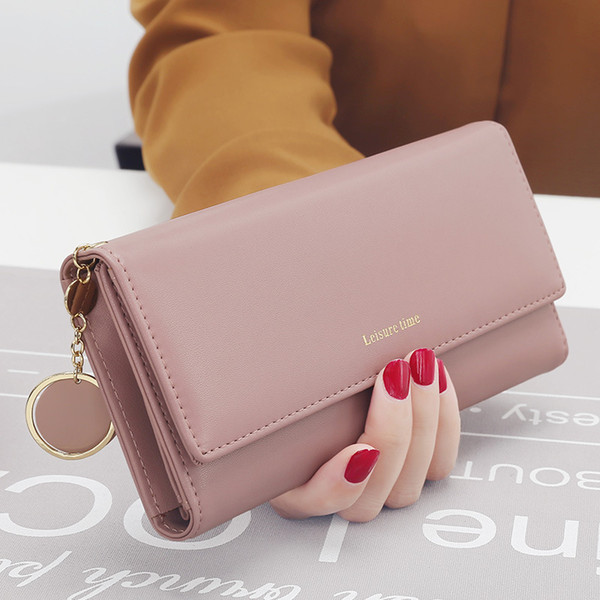 Fashion Designer Pendant Female Clutch Card Holder Zipper Luxury Brand Classic Women Wallets Long Multi-functional Purse Leather