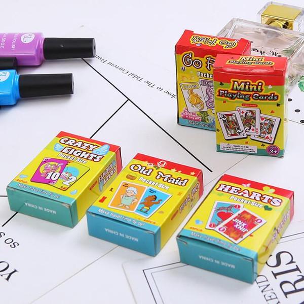 Carta da gioco per bambini Gioco da bambini Carta puzzle mini Taglia bambini Carte da gioco Educazione precoce Giocattoli Regali di Natale