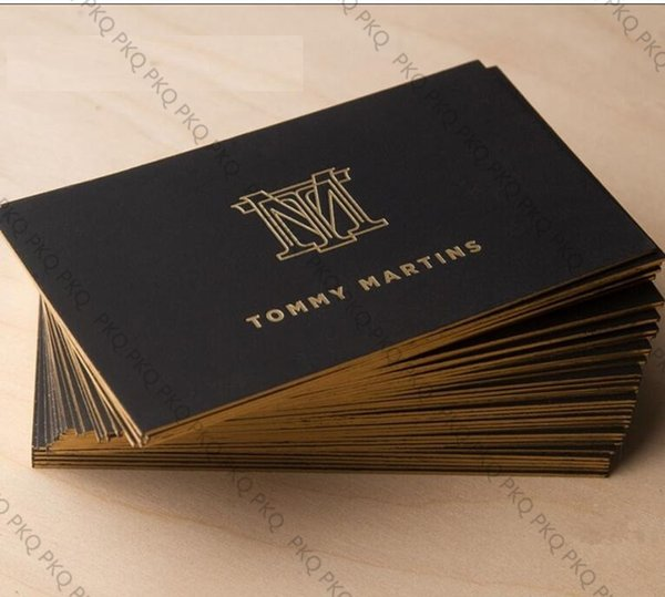 200pcs,Double-sided bronzing Phnom Penh custom business card name card printing paper calling card High-end ultra thick 700GSM