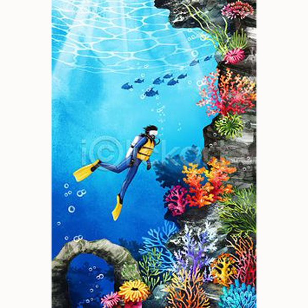 5D Diy cross stitch, sea coral, diver, animal, diamond embroidery, home decoration, crafts, embroidery rhinestones, painting, gifts