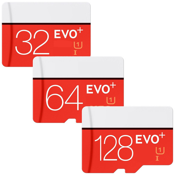 EVO Plus 32GB 64GB 128GB Trans flash TF Memory Card C10 Class 10 EVO+ UHS-I Card with Adapter Retail Package