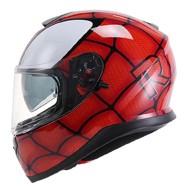 Vcoros full face motorcycle helmet classic double sun visor lens motorbike helmet YOHE 976 fashion man racing moto helmets