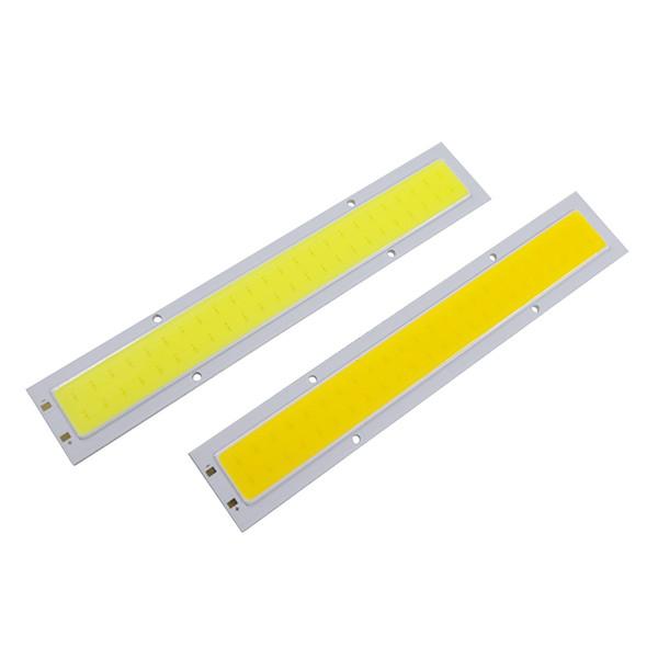 COB LED DC12V-14V Panel Strip Light Chip 10W Lamp Bulb Car Light Source Warm White Pure White For Car Spotlight Floor Lighting