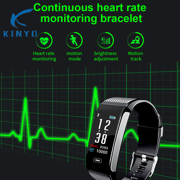 Heartrate waterproof smartband ecg ppg fitness bracelet incoming call reminder men wristband long standby for android phones