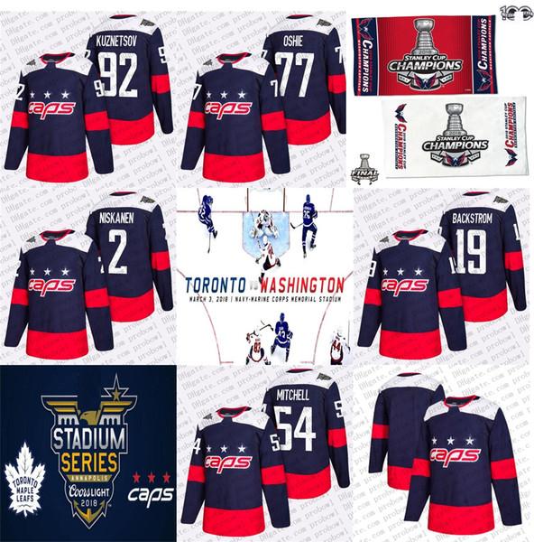 purchase cheap 2a5f8 d1774 2019 2018 Stanley Cup Champion Evgeny Kuznetsov Stadium Series Hockey  Jersey Washington Capitals T.J. Oshie Niskanen Mason Mitchell 19 Backstrom  From ...