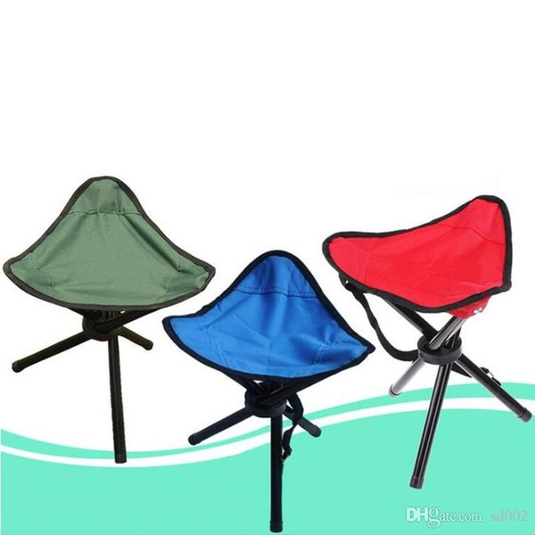 Three Legged Stools Folding Chair Seat Thicken Waterproof Oxford Cloth Sturdy Simple Practical Tourism Fishing Essential High Quality 9at aa