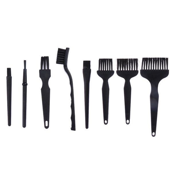 8pcs/set Anti Static Cleaning Brushes Set Repair Dust Detailing Cleaning Tool for Phone Tablet Electronic Products PCB BGA