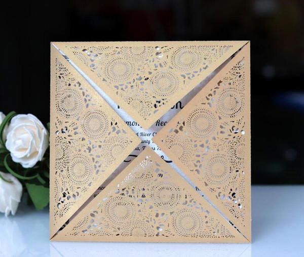 Laser Cut Wedding Invitation Suites Customization Invites With Envelope Wedding Blank Inner Custom Folded Invitations Colors Available