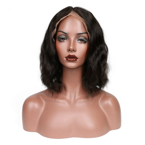 Wavy Full Lace Human Hair Wig Short Bob Wigs With Baby Hair Pre Plucked Natural Black Brazilian Remy Hair Lace Wigs For Women