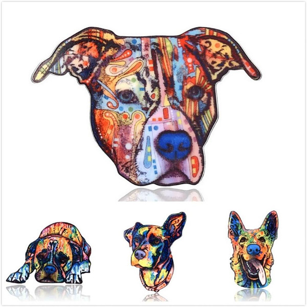 Unisex regalo de la joyería animal pastor perro solapa insignia acrílico ropa broche Pin 2018
