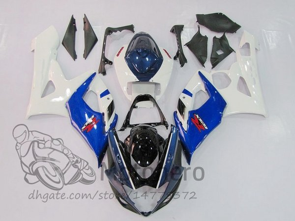 Injection fairings fit for SUZUKI GSXR1000 2005 2006 GSX-R1000 05 06 GSXR 1000 06 05 100%Fit Fairing kits blue white K5 bodywork