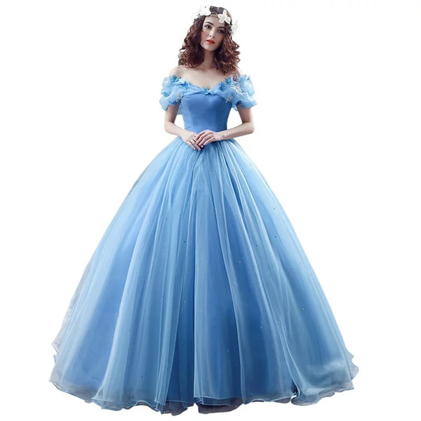 Weddings & Events 2018 New Charming Women's Cinderella Bows Quinceanera Prom Dress Tulle Ball Gown Lace Up Evening Party Dresses