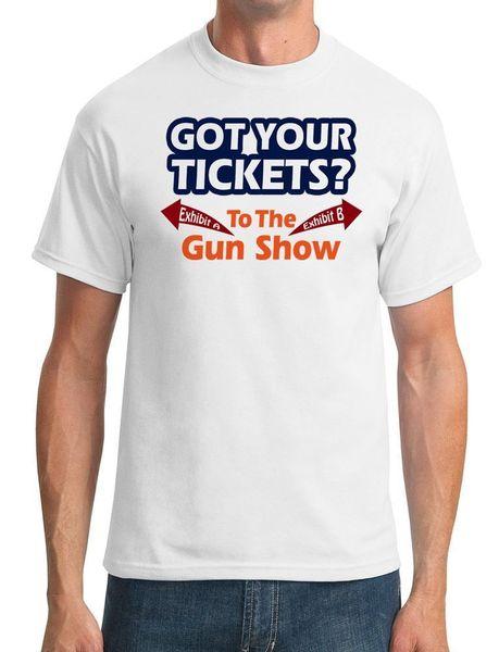 Tickets für Gun Show - Lustig - Männer T-Shirt harajuku Sommer 2018 Tshirt Kurzarm Plus Size T-Shirt
