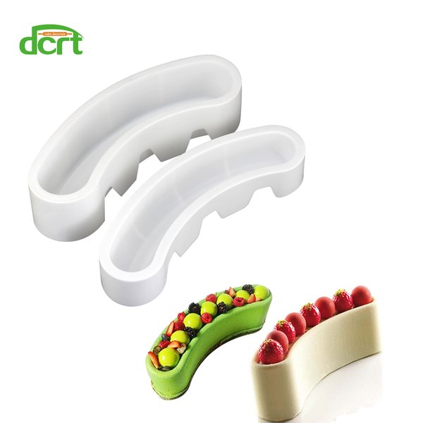 2 Style Moon Arc Shape Silicone Cake Mold,Baking Tools for Chocolate Dessert Mousse Pastry Cake Molds Kitchen Accessories