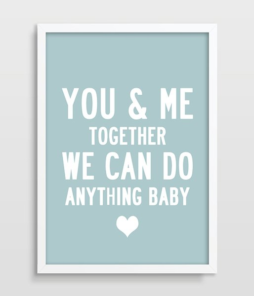 Dave Matthews Band Typography Fine Art Print You and Me Together DMB Modern Poster Kitchen Art Print Living Room Decor painting