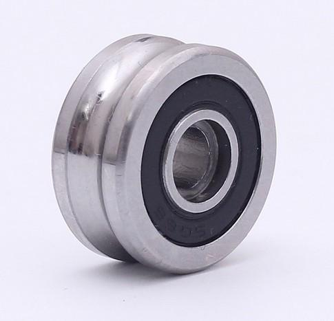 10PCS SG66 2RS U Groove pulley ball bearings 6*22*10 mm R3U Track guide roller bearing (Precision double row balls) ABEC-5