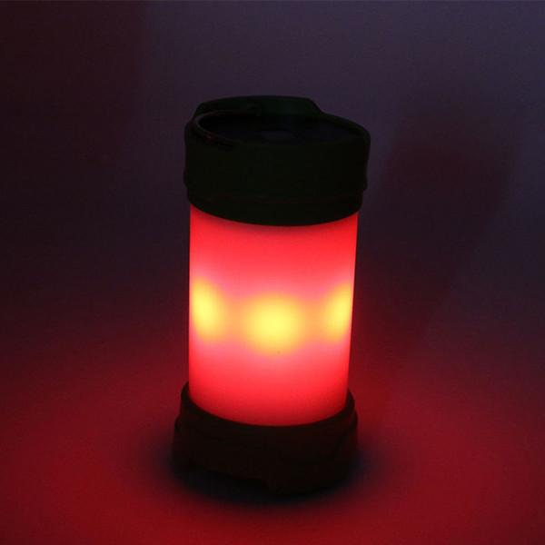 Новые многофункциональные светодиодные красные и белые фонари для кемпинга, наружное освещение USB аккумуляторные фонари для кемпинга, сигнальные огни - белые