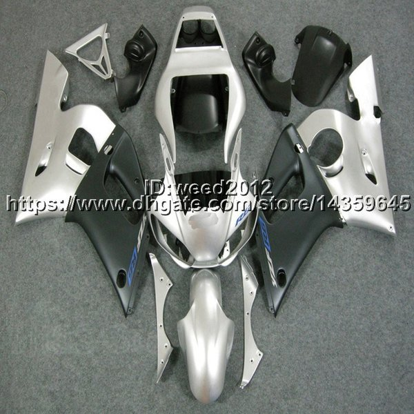 23colors+Free gifts silver motorcycle cover ABS fairing body kit for Yamaha YZF R6 1998 1999 2000 2001 2002 YZF-R6 ABS motor Fairing kit