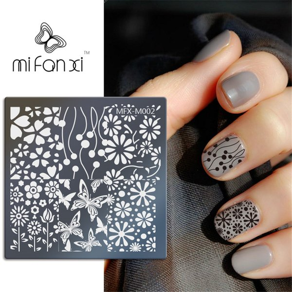 MiFanXi Square M002 Image Templates DIY Image Template Manicure Plate Stencil Tool