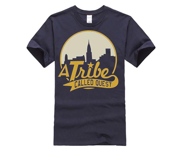 der T-Shirts der Frauen ein Stamm genannt Quest-Stadt-Skyline ATCQ Hip-Hop-Rap-Eingeborener Zungen-T-Shirt Baumwollkurzarm T-Shirt