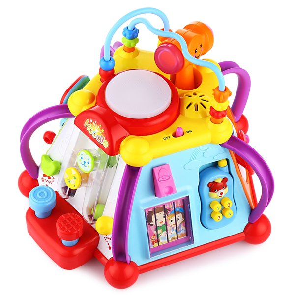 Hola Baby Cube Play Center Toy with 15 Dynamic Games Skills Learning Educational Toys Activity Cube Play Center for Children