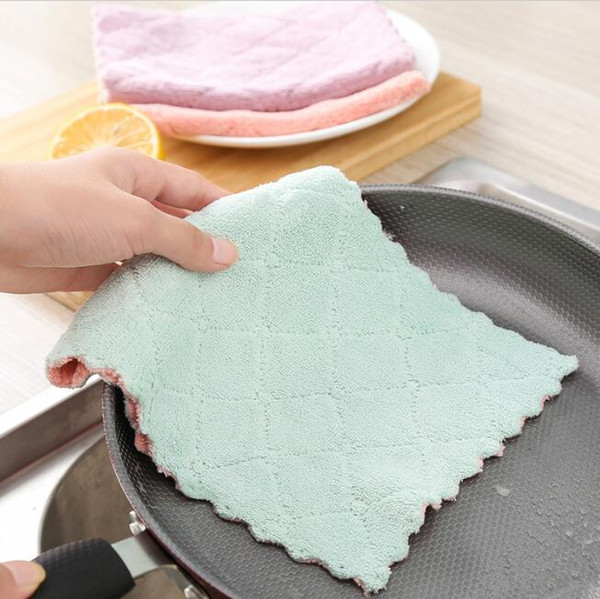 kitchen anti-grease wipping rags strong absorbent cleaning cloths home washing dish pan pot dishcloth towels kitchen cleaning tools