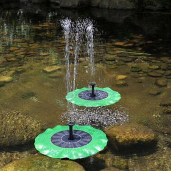 Solar Water Pump Floating Waterpomp Panel Kit Fountain Pool Pump Kit Lotus Leaf Floating Pond Watering Submersible Garden Water Hose