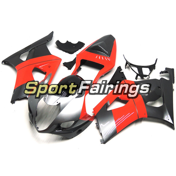 Injection ABS Plastics Fairings For Suzuki GSXR1000 GSX-R1000 K3 03 04 2003 2004 Motorcycle Body Kit Bodywork Red Silver Cowling New Hulls
