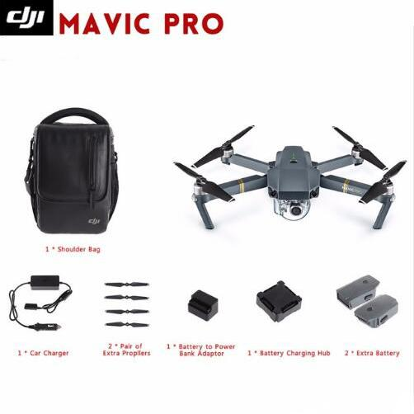 DJI Mavic Pro & Fly More Combo Quadcopter 4K HD Camera 3 Axis Gimbal 7 KM Recording Remote Control 12 Channels Camera Drones