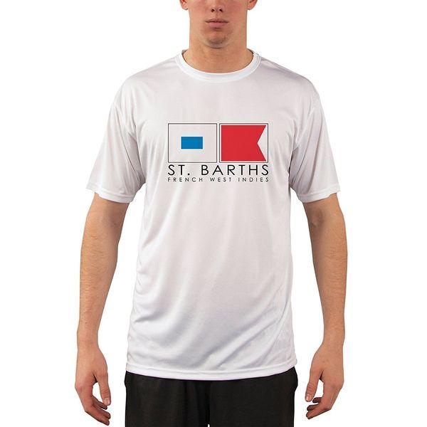 St. Barths Nautical Flags Men's UPF 50+ UV/Sun Protection Short Sleeve T-Shirt