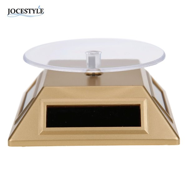 100*100*40mm Solar Automatic Rotating Stand Ring Bracelet Jewelry Display Rack Holder ABS Acrylic Watch Showcase 2018 HOT SALE