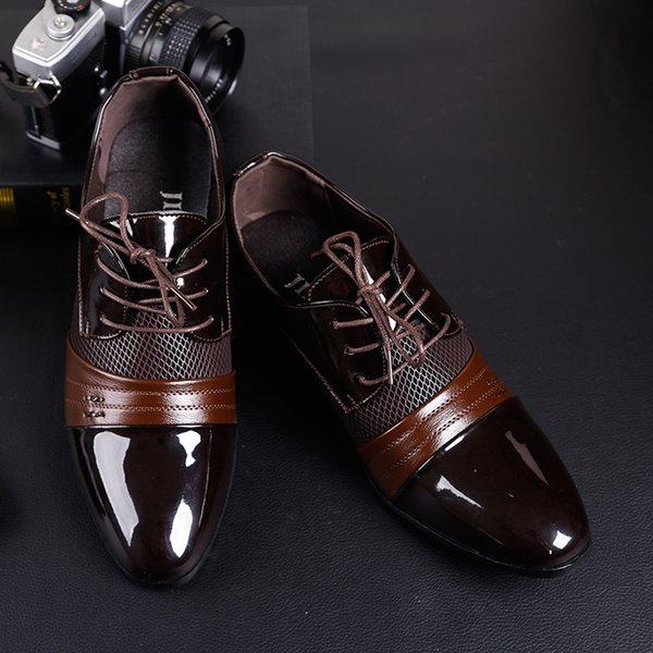 Männer Leder Kleid Schuhe Männer formale Oxford Schuhe für Männer italienische Zapatos de Hombre forml Kleid Schuhe Designer Marke Zapatos Oxford Hombre