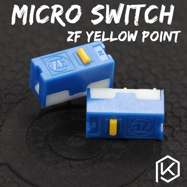Zf 5 pcs Free shiping ponto de ouro Micro Interruptor Microinterruptor para Mouse vida útil 6000 W gaming micro switch DGBE-FL60