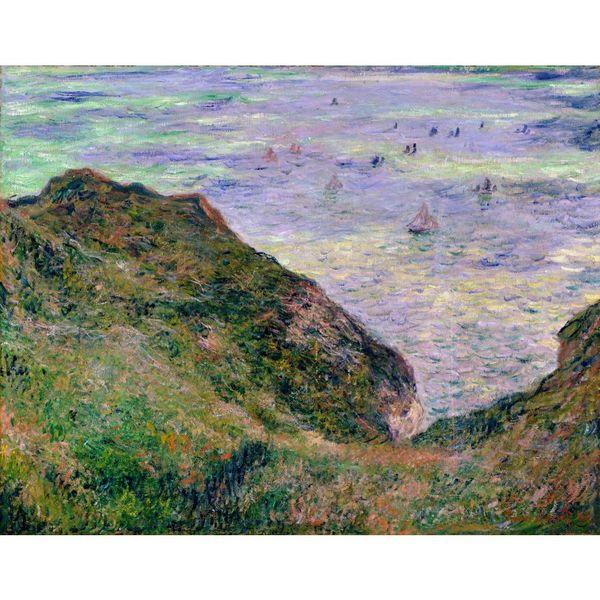 Regalo de arte hecho a mano Claude Monet Reproducción Vista sobre el mar Pinturas modernas para sala de estar