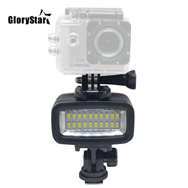 40M Diving LED Video Light Underwater Gopro 20 LED Light 130ft Waterproof Lighting700LM for GoPro Hero 6/5/4 SJCAM Action Camera