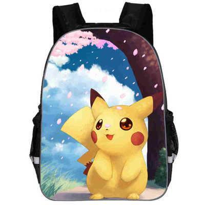 Pikachu Haunter Eevee Bulbasaur Tuval Sırt Çantası Öğrencileri Omuzlar Çanta Cep Canavar Haunter Okul Çantaları Laptop Çantaları